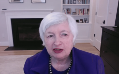 Screenshot of Janet Yellen from her nomination hearing before the Senate Finance Committee Hearing on 1/19/2020