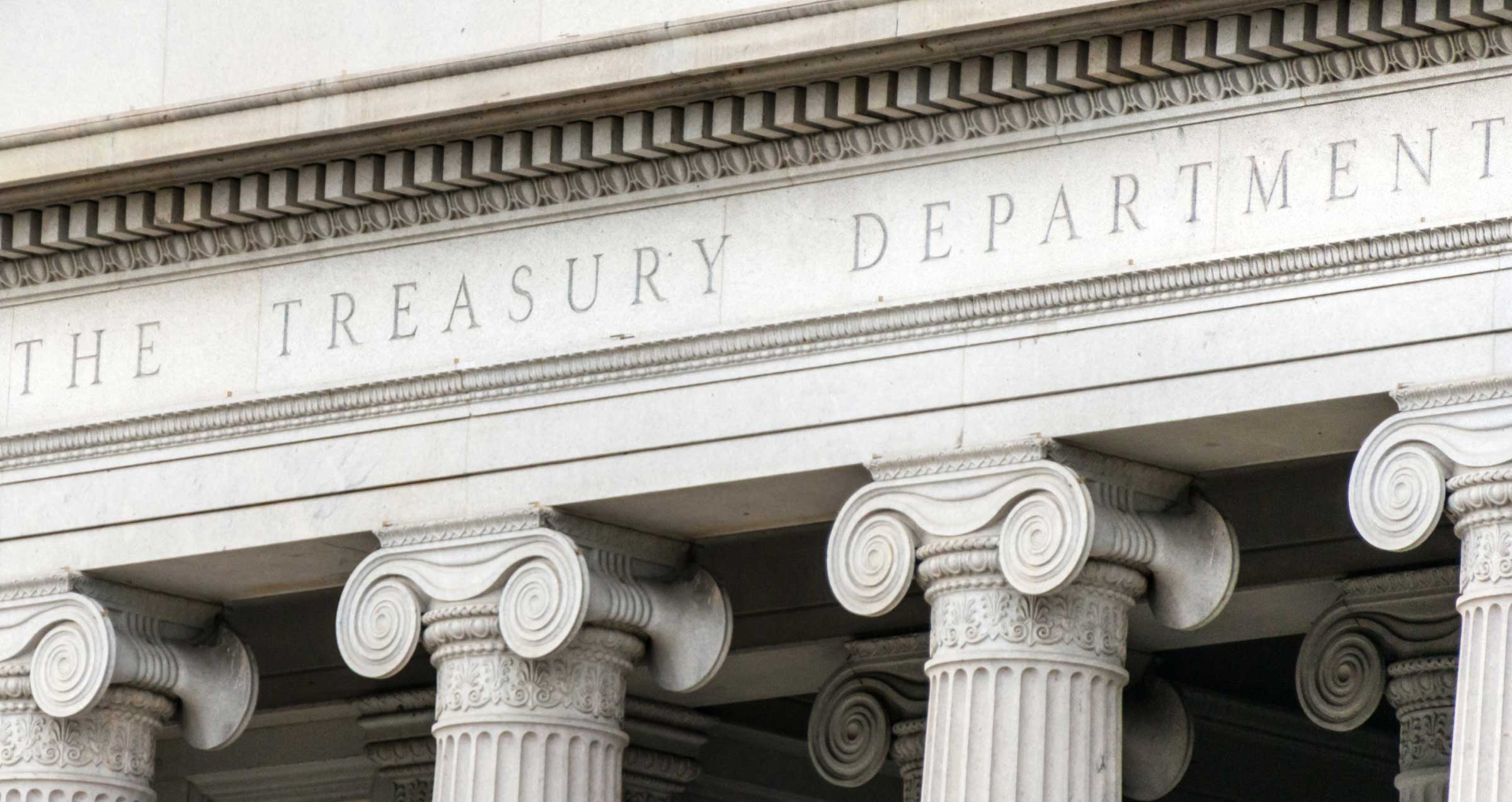 The Treasury Department outside of building